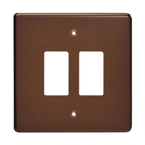 Varilight XDMPG2 PowerGrid Mocha 2 Gang Grid Plate (Single Plate)